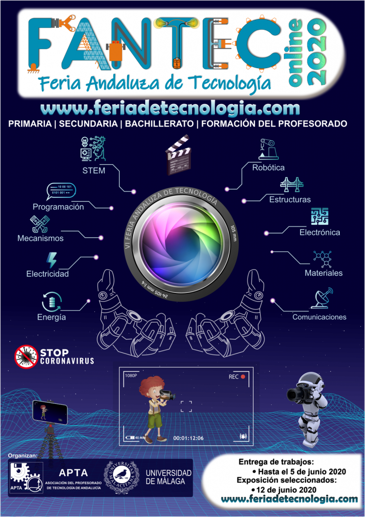 Cartel VI Feria Andaluza de Tecnología, FANTEC 2020 Online EditiON